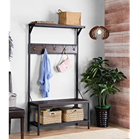 Amazon.com: homestar z1710161 Hall Árbol, color café oscuro ...