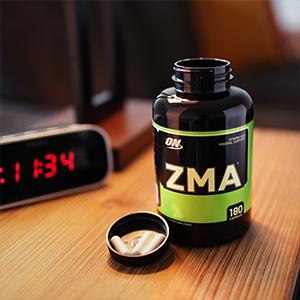 optimum nutrition zma sleep recovery nightstand