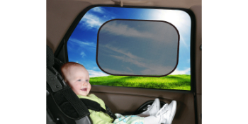 jolly jumper, sun shade for car, car window shade, cling shade for window, glare protection for baby