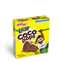 Kellogg's Coco Pops with milk bars box