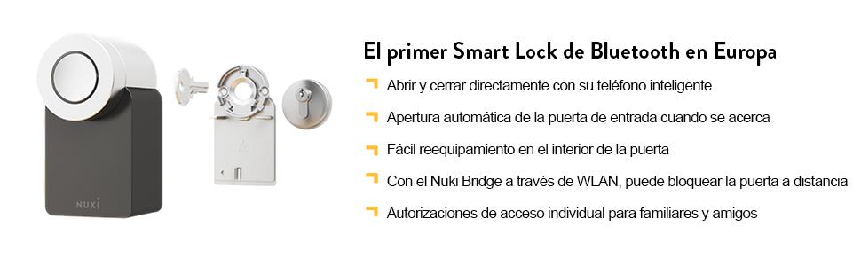 nuki smart lock bridge fob iphone cerradura abrepuertas electrónica cerradura automática smartlock