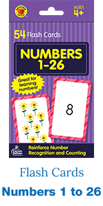 numbers 1 to 26 flash cards