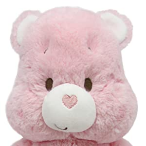 Care Bears Soother Bear Stuffed Animal Plush with Music & Lights, Cheer Bear - Pink