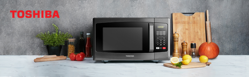 Tohsiba EM925A5A-BS microwave oven Black Stainess Steel
