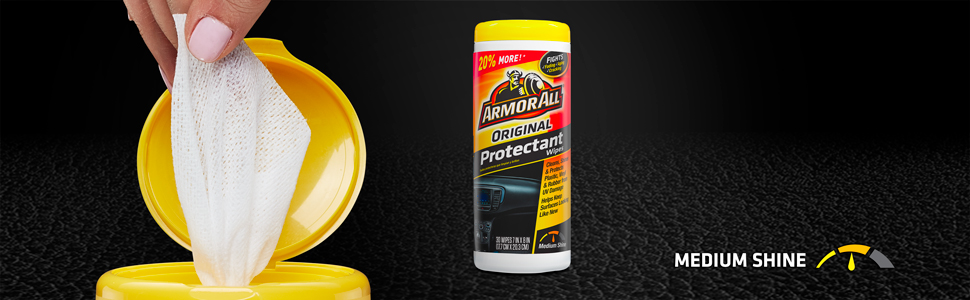 Armor All Original Protectant Wipes, Disposable Wipes, Auto Interior Wipes