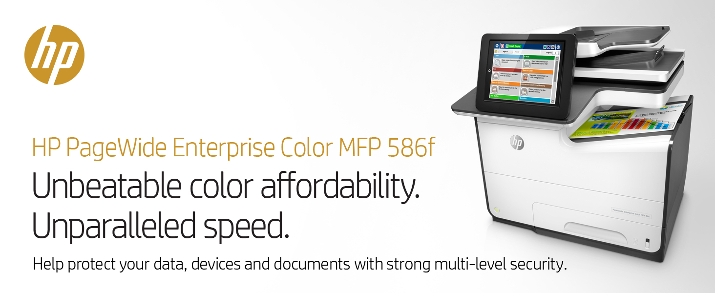 Amazon.com: HP G1W40A#BGJ Page Wide Enterprise Color MFP 586F, 8 ...