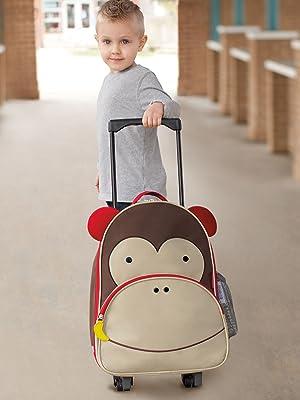 Skip Hop, Toddler, Luggage, Kids Luggage, Zoo, Monkey