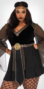 costume, warrior, goddess, plus size, dress