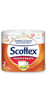 Scottex Quanto suffit Papier cuisine Option Demi-Strap 2 Maxi Rouleaux
