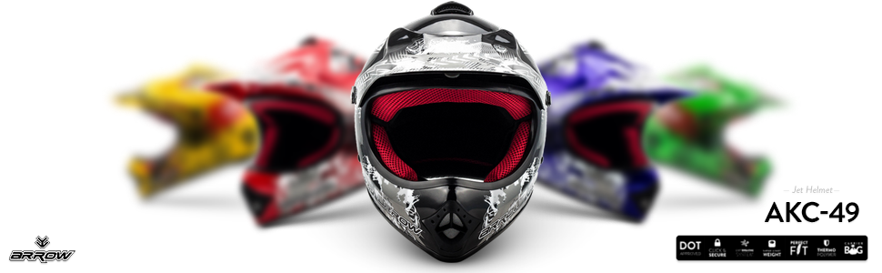 "59-60cm Armor /· AKC-49 /""Titan/"" silver /· Kids-Cross Helmet /· MX Enduro Off-Road Moto-Cross-Helmet Child Motorcycle /· DOT certified /· Click-n-Secure/™ Clip /· Carrier Bag /· XL"