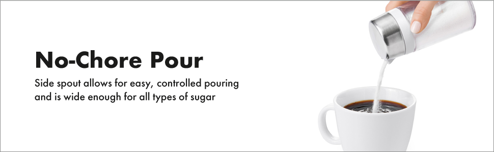 Oxo Good Grips Sugar Dispenser 2 5x5 5 Quot White Clear