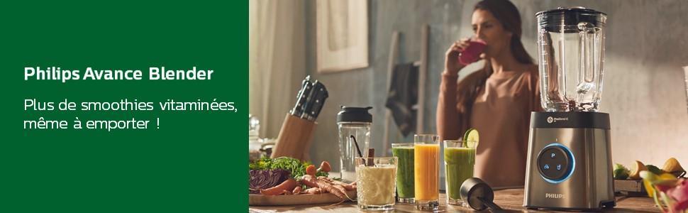 Philips Avance Blender - Plus de smoothies vitaminées, même à emporter !