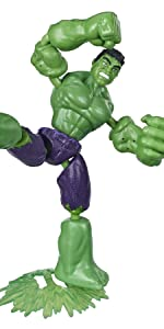 Bendy Figures; Hulk;