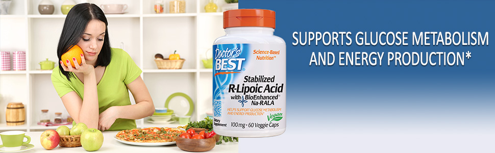 Stabilized R-Lipoic-Acid antioxidant defenses healthy blood sugar levels free radicals stress