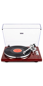 Amazon.com: 1byone Belt Driven Turntable with Built in ...