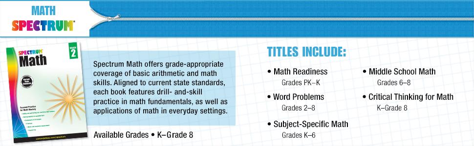 Amazon com: Spectrum Test Practice Workbook, Grade 8