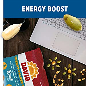 DAVID energy mixes are a delicious study snack, office snack or on-the-job snack