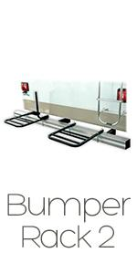 rv bike rack, rear 2 bike carrier for trailer, motorhome bike rack