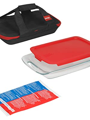 Pyrex Portables Glass Food Bakeware and Storage Containers (4-Piece Set)
