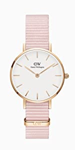 dw, daniel wellington, petite rosewater, white leather watch, rose gold white watch