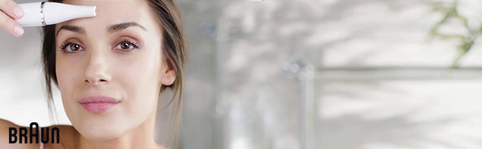Braun Face 810 - Depiladora facial con cepillo limpiador