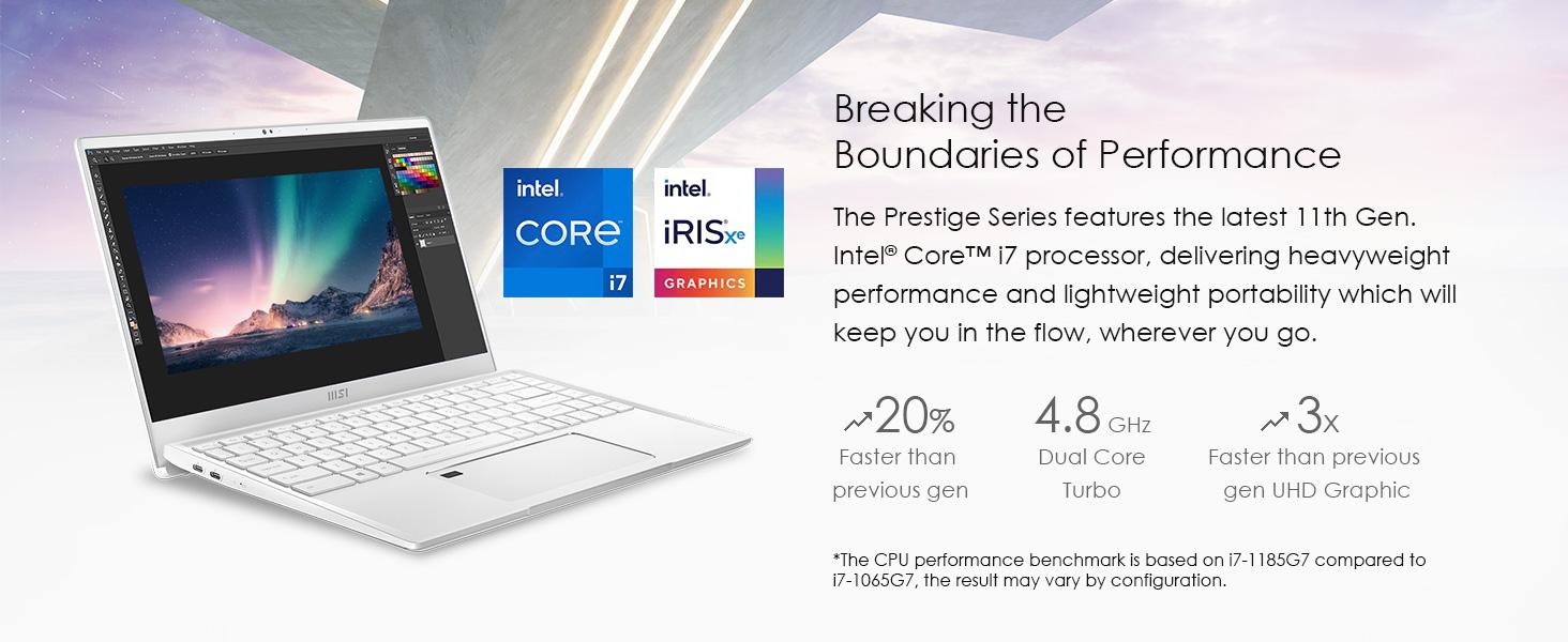 Intel Core i7 Iris Xe 11th gen cpu processor 4.8ghz i7-1185G7