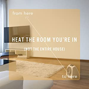 Heat the room you're in.