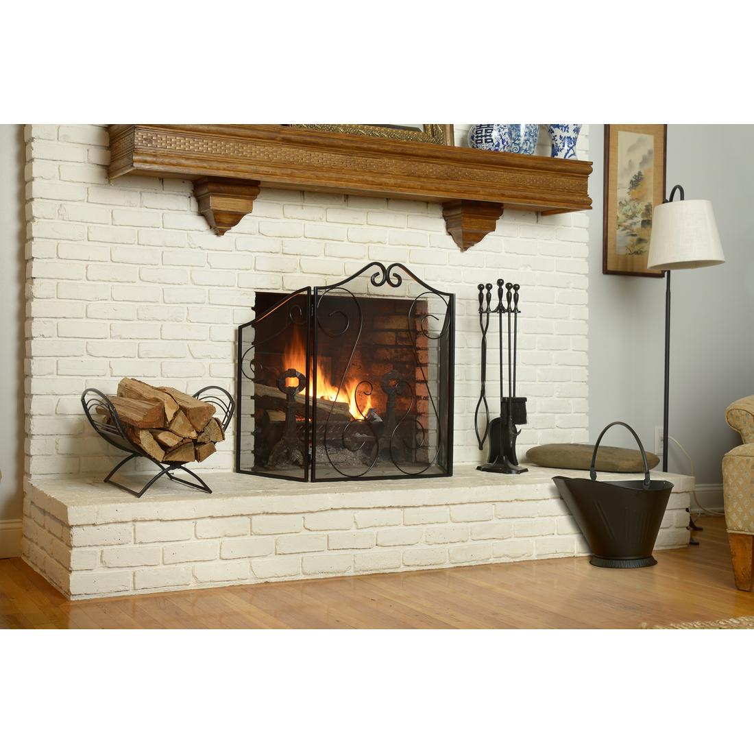 Amazon Com Shelterlogic Fireplace Classic Log Holder