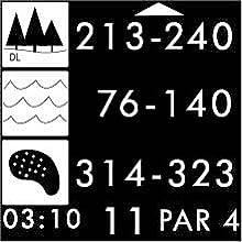 Golf hazard distances