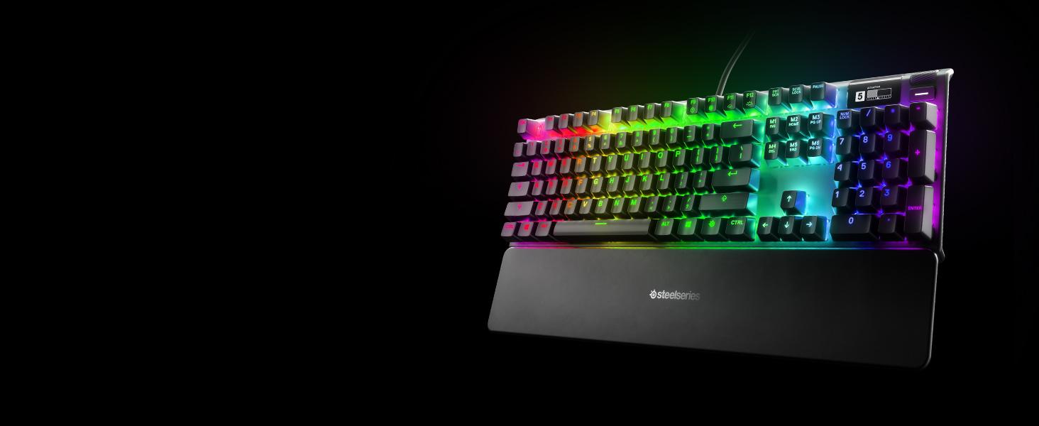 - A SteelSeries Apex keyboard