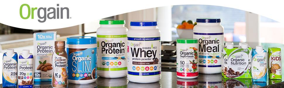 Orgain Organic Protein Powders