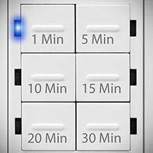 In Wall Timer Switch Enerlites, Fan Switch Timer, Countdown Timer Switch,  Light Timer Switch, Bathroom Timer Switch, 1 - 30 min, Night Light LED