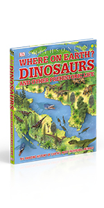 "Front cover for ""Where on Earth? Dinosaurs"""