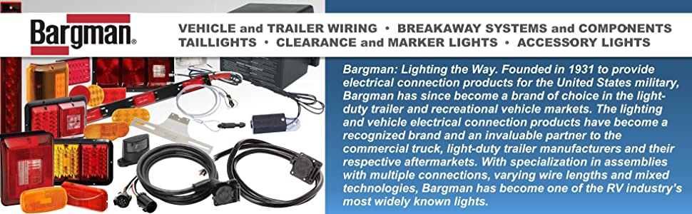 Bargman taillights trailer wiring trailer breakaway system clearance marker light vehicle