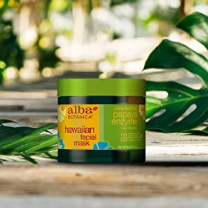 Amazon.com: Alba Botanica, máscara facial, Papaya Enzima 3 ...