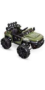 battery ride on truck, battery powered ride on, truck for kids, green truck toy