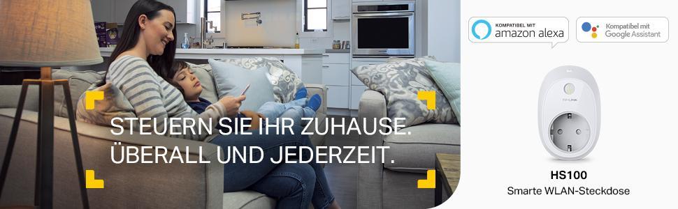 tp link hs100 eu intelligente wlan steckdose. Black Bedroom Furniture Sets. Home Design Ideas