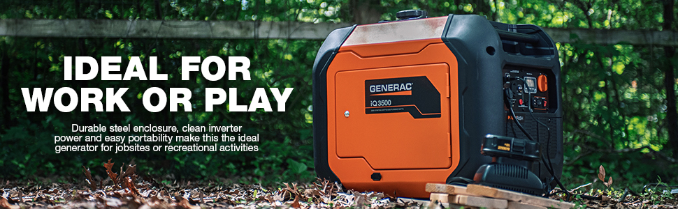 work, play, iQ3500, iQ, portable generator, inverter, inverter portable generator, generac, Generac