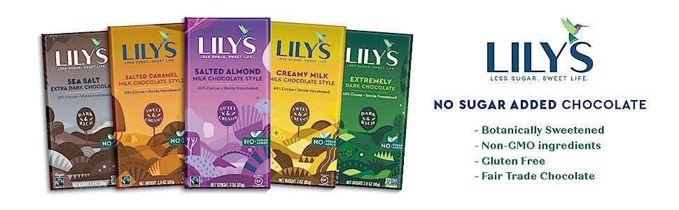 Lily's, Lily's Sweets, Sugar Free, Sugar Free Chocolate, Chocolate Bars, Keto Chocolate, Keto