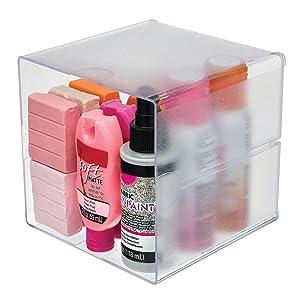 open cube organizer, desk organizer, deflecto stackable, modular storage, deflecto