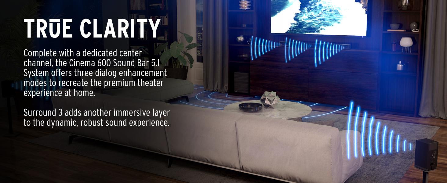KLIPSCH CINEMA 600 5.1 SOUND BAR SURROUND SOUND SYSTEM, BEST HOME THEATER, best surround speakers