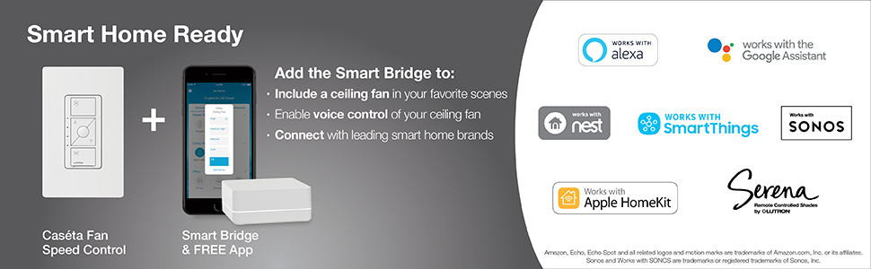 smart dimmer, smart dimmer switch, LED dimmer, smart home, Caseta, dimmer