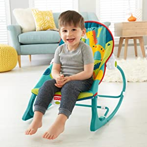 Grows (and rocks) along with your baby  sc 1 st  Amazon.com & Amazon.com : Fisher-Price Infant-to-Toddler Rocker Dark Safari ...