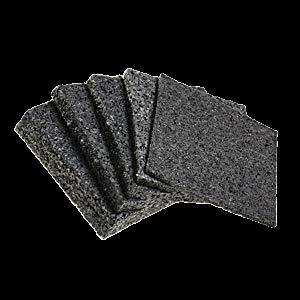 Terrassendielen Terrassenpads I gummipad I Unterleger aus Gummigranulat f/ür Terrassenholz 100 x 50 x 20 mm Menge: 100 St/ück