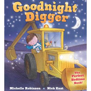 Goodnight Digger, digger, digger story, digger book bedtime story, bedtime book