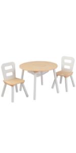 Ensemble table ronde avec chaises KidKraft, mobilier Kidkraft, Ensemble table et chaises en bois