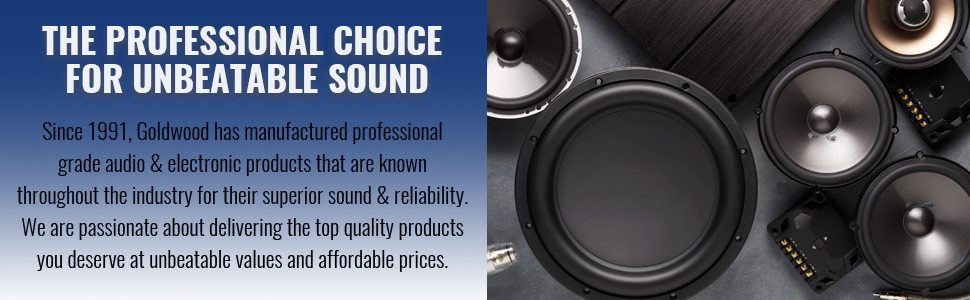 THE PROFESSIONAL CHOICE FOR UNBEATABLE SOUND