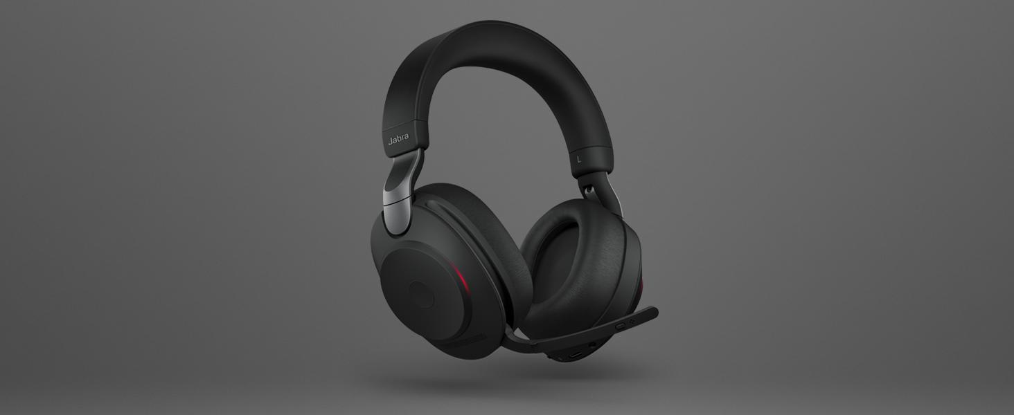 Jabra Evolve2 85 Wireless Pc Headset Noise Cancelling Microsoft Teams Zertifizierte Stereo Kopfhörer Mit Langer Akkulaufzeit Usb A Bluetooth Adapter Schwarz Elektronik