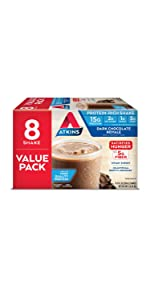 atkins protein rich shake dark chocolate royale low carb keto friendly gluten free