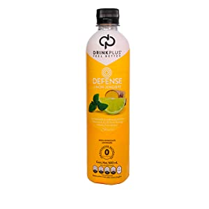 DrinkPlus DEFENSE Limon Jengibre Bebida 500ml Multivitaminico Sistema Inmune Stevia Monk Fruit